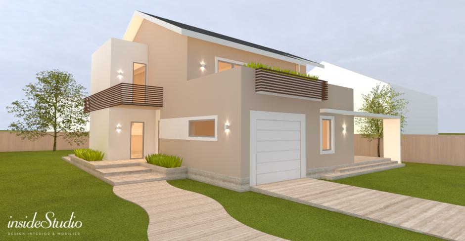 Fatada casa moderna for Casa moderna romania